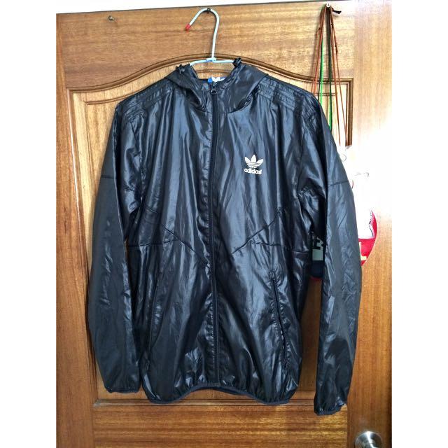 Adidas 黑 防風外套