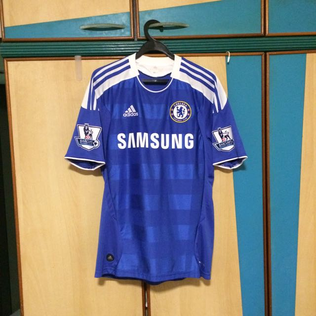 reputable site 6c11f 6244c Authentic Chelsea Home Kit 11/12 Didier Drogba 11 EPL Patch ...
