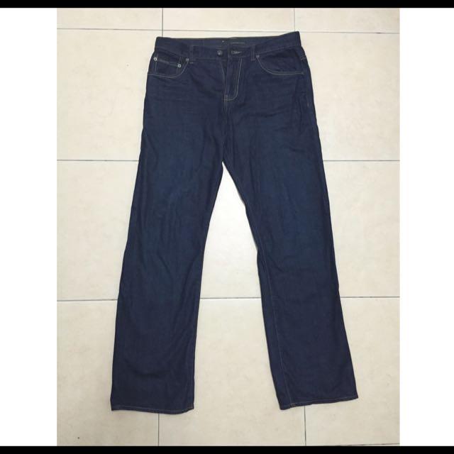 二手CK Jeans 深藍直筒牛仔褲 (聖誕節便宜賣)