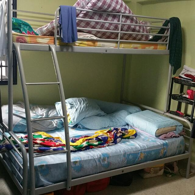 Ikea Tremso Bunk Bed Top Single Bottom Double Frame Only Comes