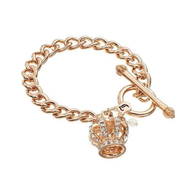 美國品牌Juicy Couture皇冠玫瑰金手鍊