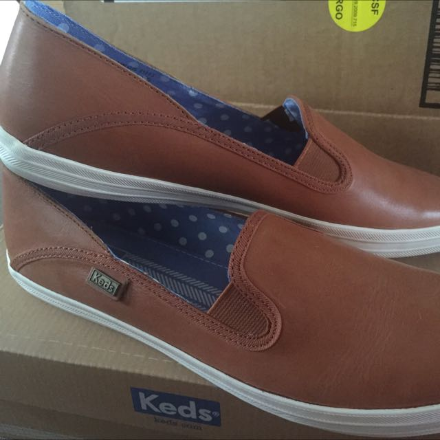 0052c2b948f94 Keds Women s Crashback Leather Sneakers   Cute Slip On Shoes Brown ...