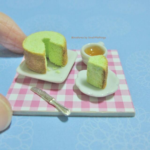 Miniature Pandan Chiffon Cake