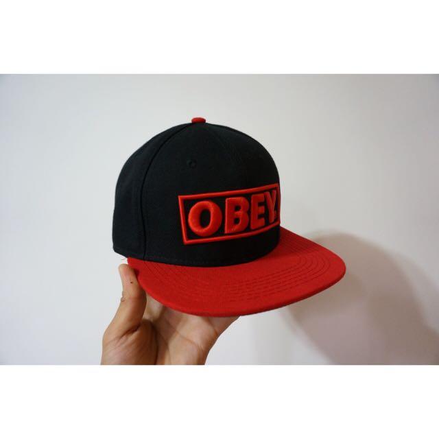 Obey 棒球帽 平沿帽 尺寸Free