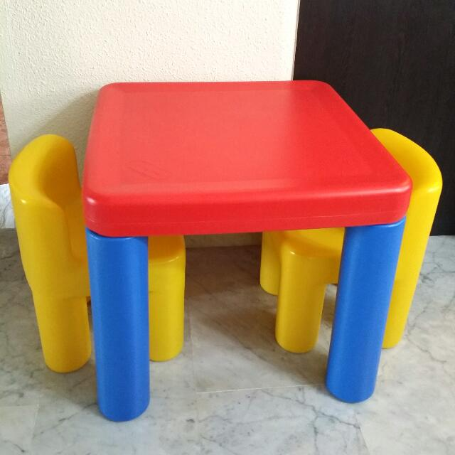 preloved little tikes classic table chairs set babies kids on carousell. Black Bedroom Furniture Sets. Home Design Ideas