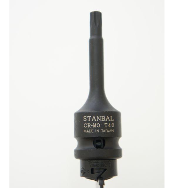 STANBAL 頂級8660CRMO鉻鉬鋼四分氣動套筒 T 系列 DR1/2*78L--台灣製