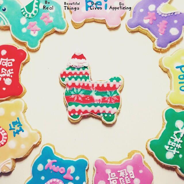 Vivi's Savory Sweets 客製化糖霜餅乾 (訂做生日禮物、收涎餅乾、婚禮小物)