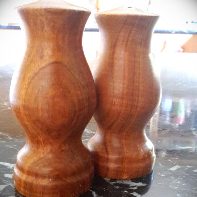 Wooden Shakers - Salt And Pepper