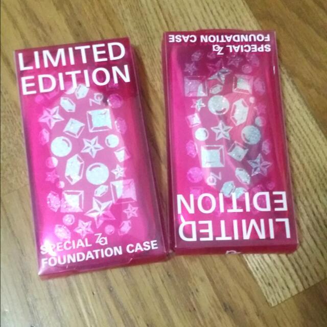 *全新含運*Za兩用粉餅空盒,桃紅色×2個