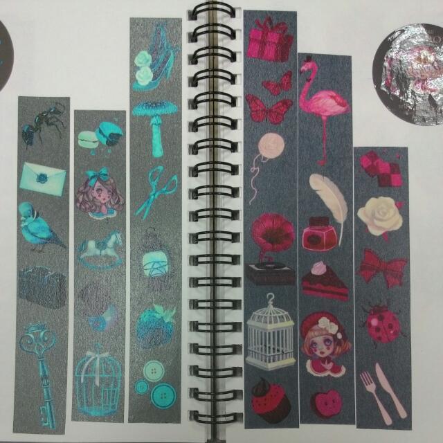 紙膠帶分裝-(Zihling)粉色+藍色宇宙