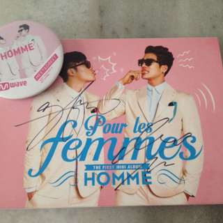 HOMME (2AM's Changmin & 8Eight's Lee hyun) - 'Pour Les Femmes' (Autographed by all Members)