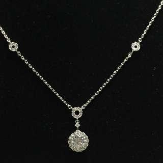 珠寶鑲工晶鑽項鍊(非真鑽)