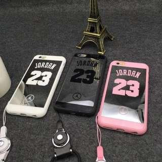 喬丹23號鏡面情侶iphone5/6/plus手機殼