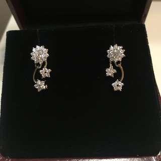 珠寶鑲晶鑽耳環