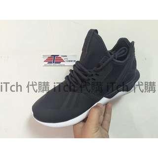 (現貨)adidas tubular runner 黑白 黑標