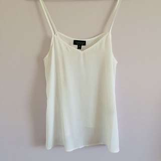 Top shop White Chiffon Singlet