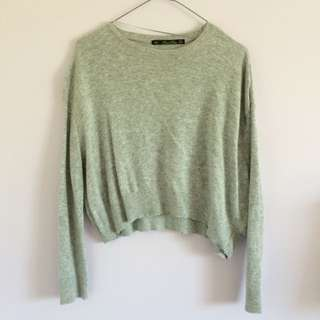 Zara Cropped Grey Knit