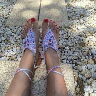 Handmade Crochet Footless Socks