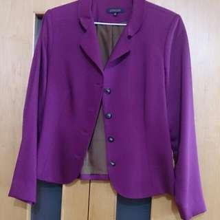 M紫玫色外套(呂芳智老師設計款)