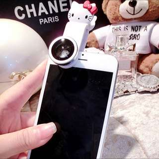 INSTOCK Hello Kitty 3 In 1 Iphone/Samsung Phone Camera Lens