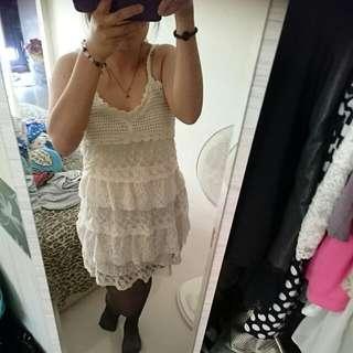 蕾絲針織洋裝