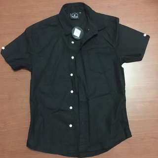 Flesh Imp Black Shirt with Mesh Design XS