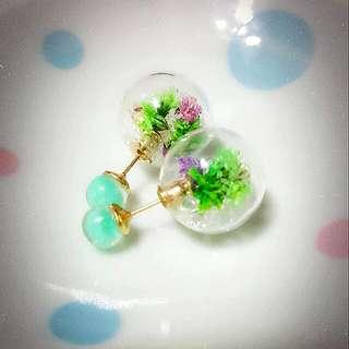 🎀正韓🎀Tiffany 色系玻璃氣泡耳環