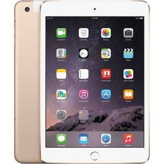 iPad Mini 3 Wi-Fi + Cellular 64GB Gold