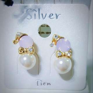 ⛄正韓純銀耳環🎅聖誕節耳環⛄珍珠雪人耳環💎可交換禮物