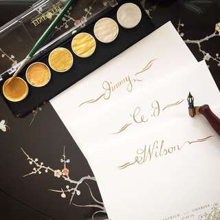 Handwritten Calligraphy Addressing Wedding Invites
