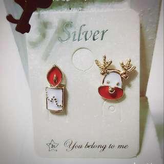 🎆正韓純銀耳環🎄聖誕節耳環🎅麋鹿款⛄