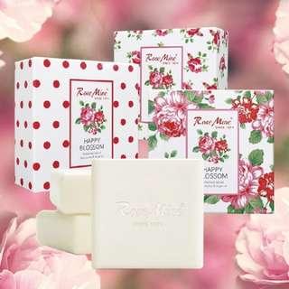 EVAS 玫瑰香水皂3入禮盒(附提袋)
