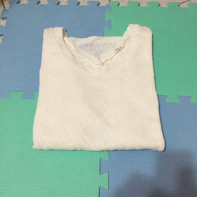 +1元免運費❤️白色細針織上衣