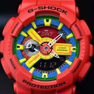Casio G-Shock Red Color Watch-GA-110FC-1A