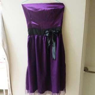 紫色禮服 洋裝