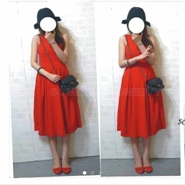 正韓法式優雅素面小禮服