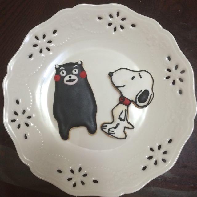 糖霜餅乾-史奴比、熊本熊,可當收涎餅乾.