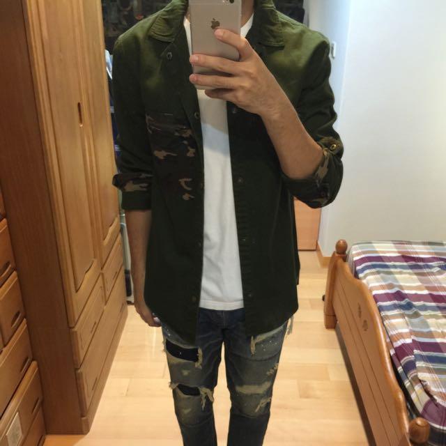韓版迷彩外套  韓版牛仔褲