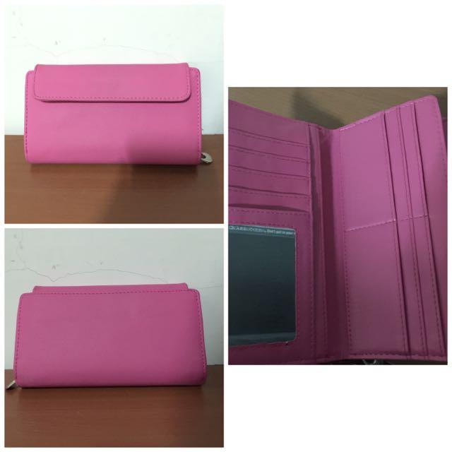 桃紅 粉紅 皮夾/長夾