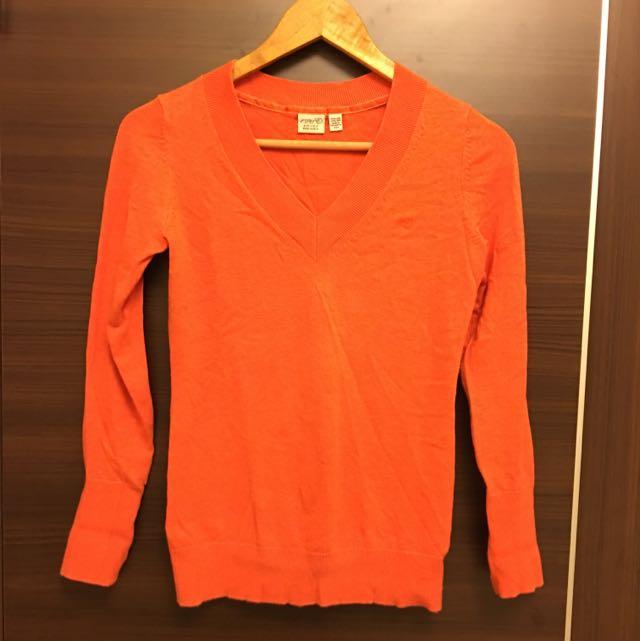 Esprit 橘色針織毛衣