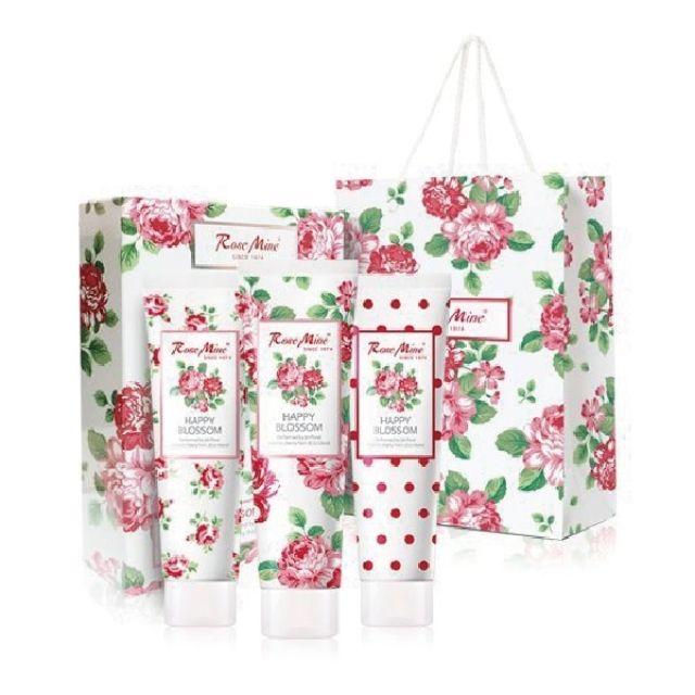 EVAS玫瑰香水護手霜3條禮盒(附提袋)