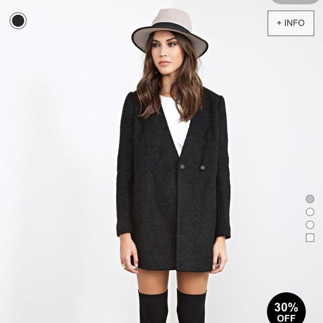 forever21黑色西裝大衣外套