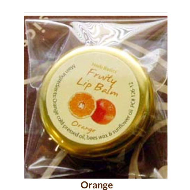✨Herb Basics' Fruity Lip Balm Orange 泰國天然護唇膏