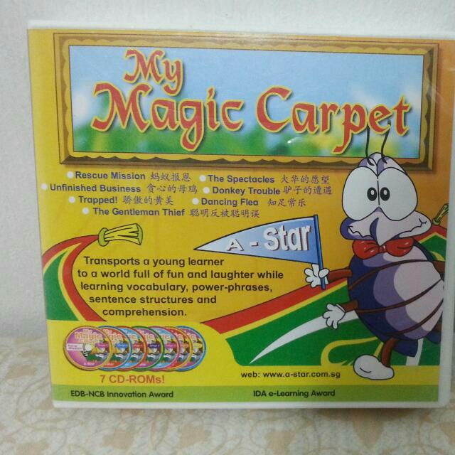 My Magic Carpet 7 CD -ROMS A-star Award Winning Product  Train Up A Bilingual Chilf!!!!!! Cool Product To Boost Eng And Chinese Comprehension Up To Pr 3