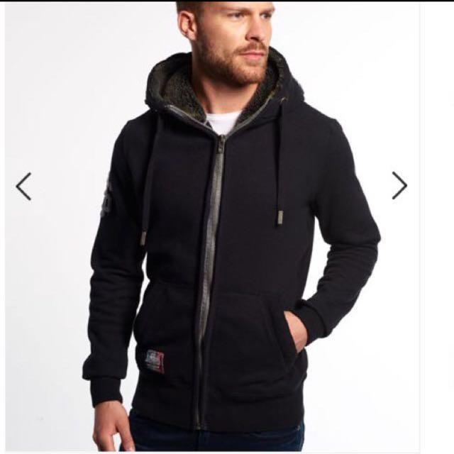 Superdry  極度乾燥 羊羔絨內襯拉鍊連帽外套👉🏻含運
