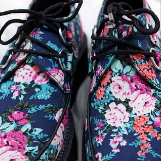 T.U.K Mondo Floral Creepers