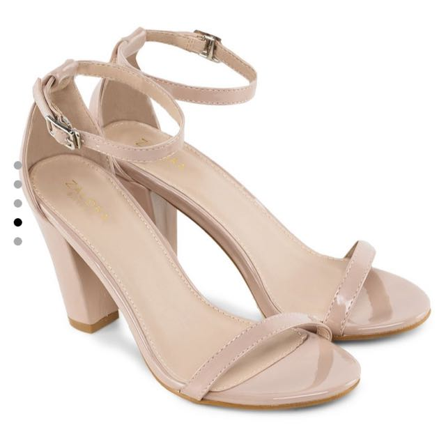 Zalora Basics, High Heels Sandals with Ankle Strap
