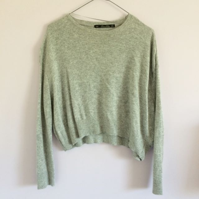 Zara Cropped Grey Knit