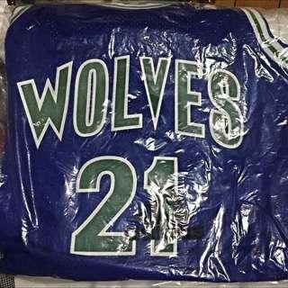 NBA 灰狼隊 Garnet復古版球衣