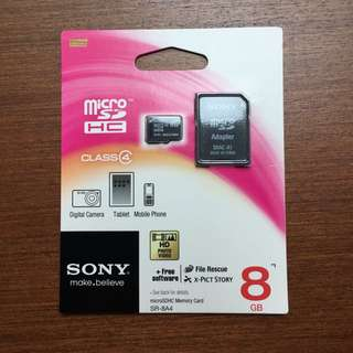 BNIP Sony 8GB Micro SD